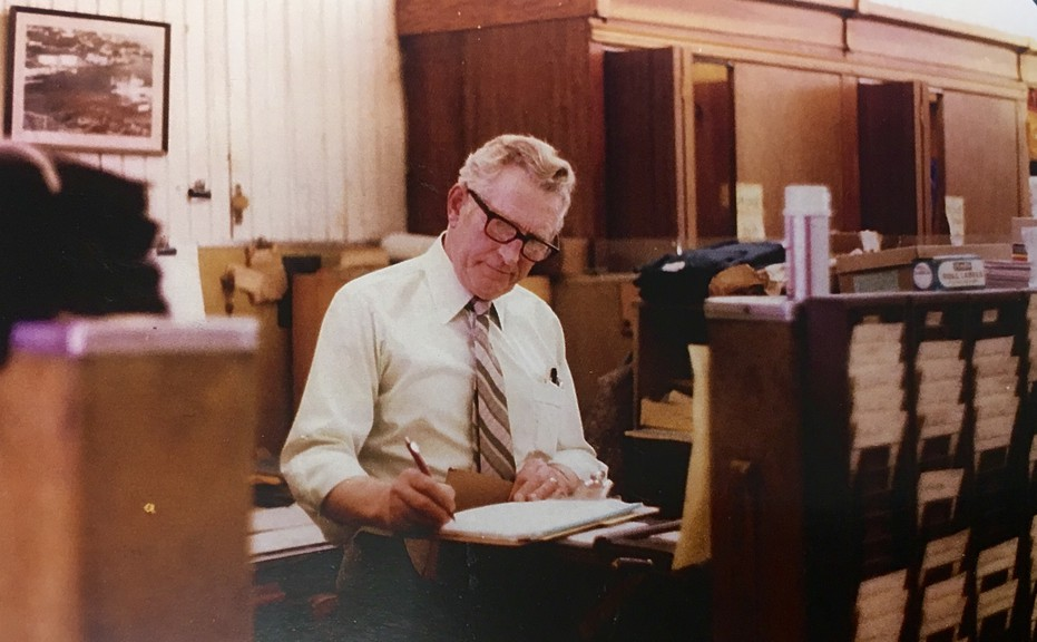 Pictured in this Jean Babin photo from the Bathurst Heritage Museum is longtime Kent's employee Bernie Kane. The photo is from 1980.