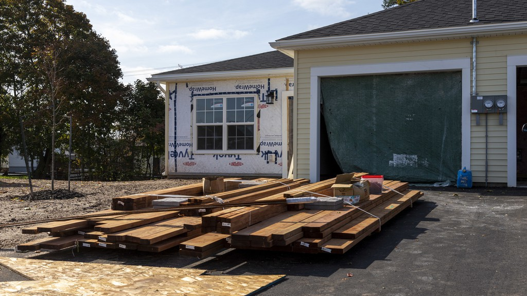 A home is seen under construction in Sussex on Monday. The municipalities of Sussex and Hampton have seen a boom in building permit applications this year, with Hampton seeing construction rates higher than every year since 2010.