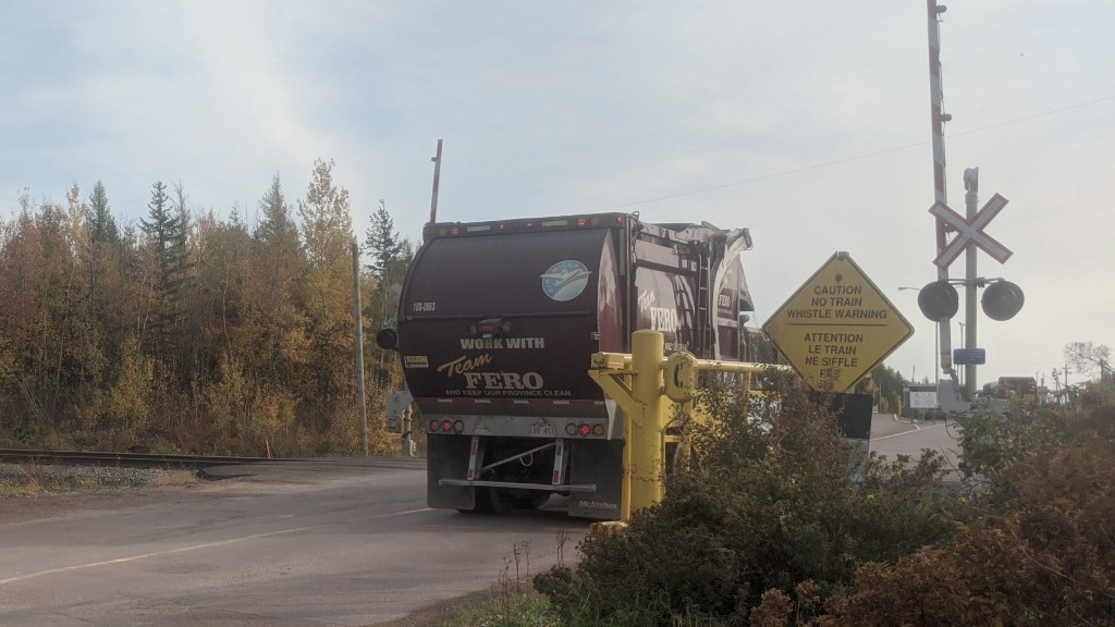 A FERO truck is shown entering Eco360's waste management facility on Bill Slater Drive on Monday.