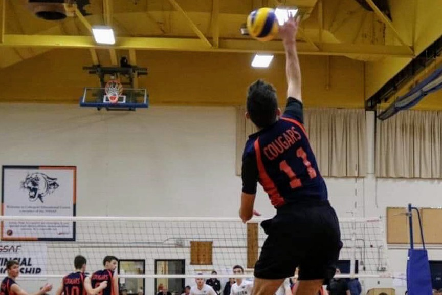 Noah Boudreau, one of the top young volleyball players in Nova Scotia, will join the UNB Reds men's volleyball team in 2021-22.