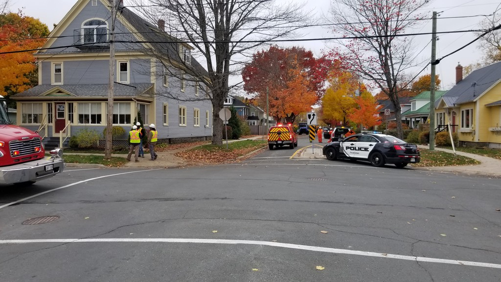 Police are asking people to avoid Aberdeen street between St. John and Regent streets after a gas line was struck Wednesday afternoon.