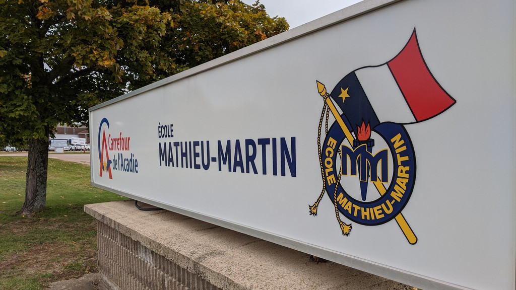 École Mathieu-Martin is located in Dieppe and was one of the schools that did not receive funding for renovations from the Department of Education. The high school has 1,176 students.