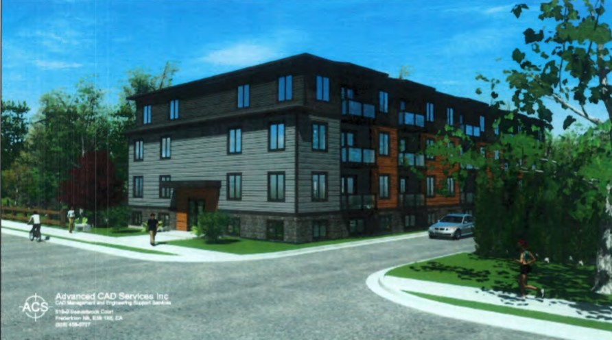 A developer is pitching the construction of a 40-unit apartment building on Fredericton's north side.