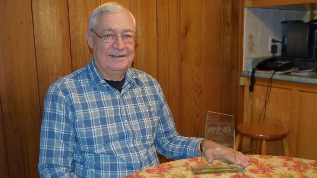 William Donald, treasurer of the Highland Society of New Brunswick Miramichi, was named this year's recipient of Association Heritage New Brunswick's Quarter Century Award.