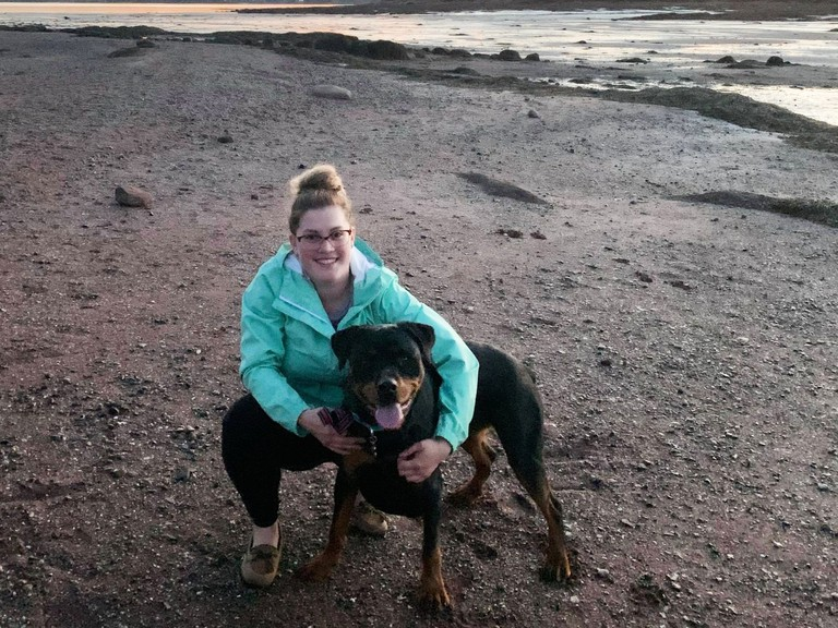 Sussex residentCourtney McLeod is pictured with her dog Roxy. She's hoping a Facebook page connecting dog owners in the area will help bring more attention to the Sussex Bark Park and attract more dogs.