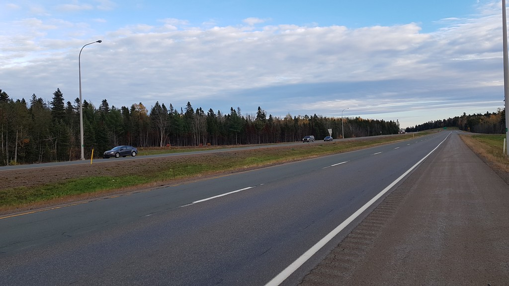 The Trans-Canada Highway between Fredericton and Moncton.