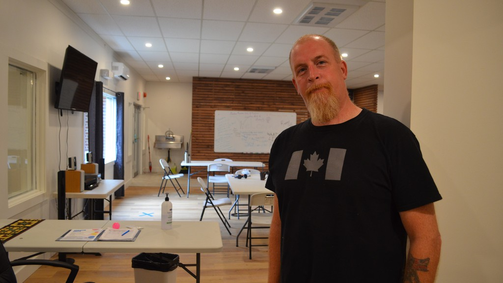 The Phoenix Learning Centre gives Fredericton's homeless population a safe place to get out of the elements and have a shower, coffee or even a nap, said co-ordinator Scott Earle.