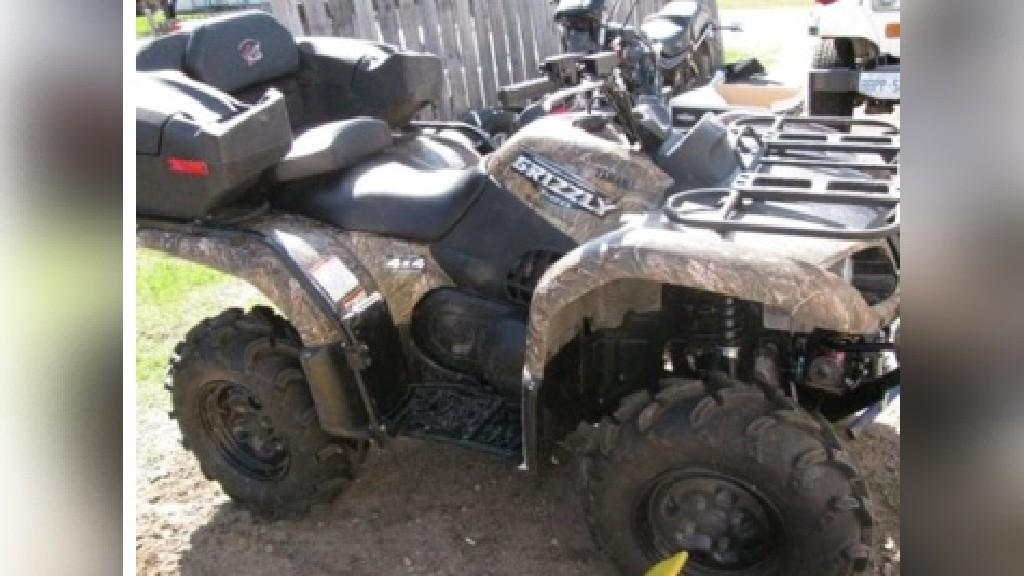 The RCMP is investigating the theft of this ATV from Geary.