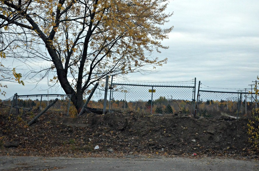 A path through the former UPM-Kymmene groundwood mill site in Nelson commonly used as a pedestrian shortcut from St. Patricks Drive to Flett Street was blocked Oct. 8 by large dirt piles at both ends, to the contention of nearby resident Michael Mersereau.