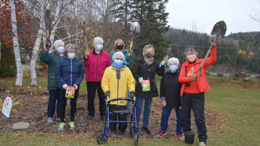 Members of the Rotary Club of Perth-Andover marked World Polio Day on Oct. 24 by planting tulip bulbs in the community garden at Andover Elementary School. The bulbs were sold as a fundraiser in the district with funds going toward the international effort to eradicate polio from the world.