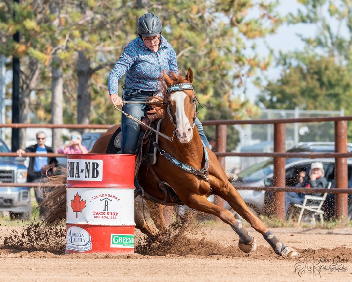 Kiersten Brennan, from Blackville, a village about 40 kilometres southwest of Miramichi, qualified for the 2021 NBHA World Championship in open barrels, set to take place in the United States next October.