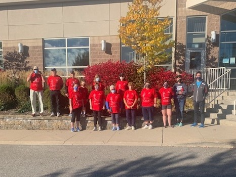 Participants in the second annual Walk of Life in Sussex raised approximately $6,000 for the Cardiac Rehabilitation program on Oct. 3.