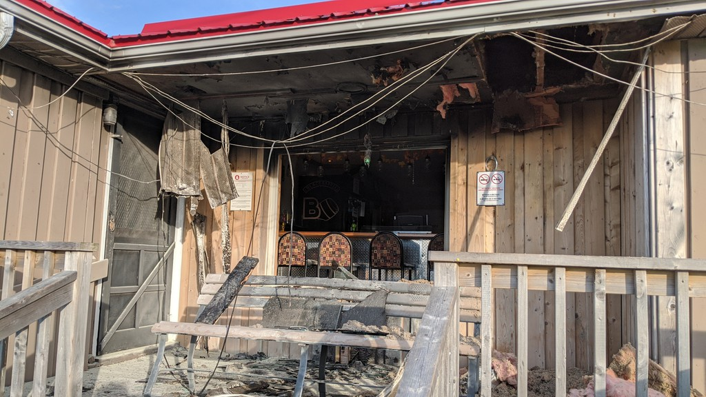 A fire damaged the exterior of the Black Barrel Pub on Oct. 29.