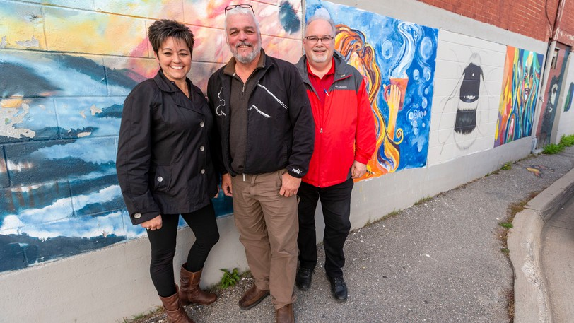 MLA Michelle Conroy, Harvest House Atlantic founder Cal Maskery and Skyway to Heaven Church Pastor Ray Arsenault have worked since 2019 to bring a drugrehabilitation centre to Miramichi.