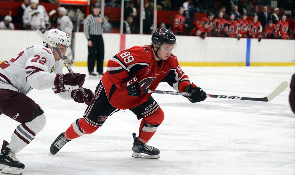 Former UNB hockey star Matthew Boucher has nine points in eight games since leaving to join the Utah Grizzlies of the ECHL.