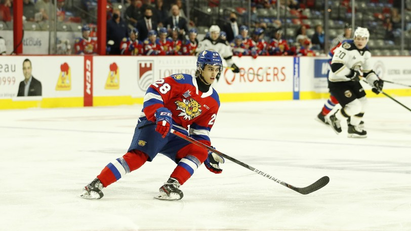 Forward Yoan Loshing is a key second-year player for the Moncton Wildcats, who open the QMJHL season on Friday.