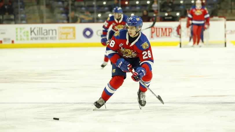 Forward Yoan Loshing and the Moncton Wildcats lost to the Halifax Mooseheads in QMJHL pre-season play on Saturday in the Superior Propane Centre.