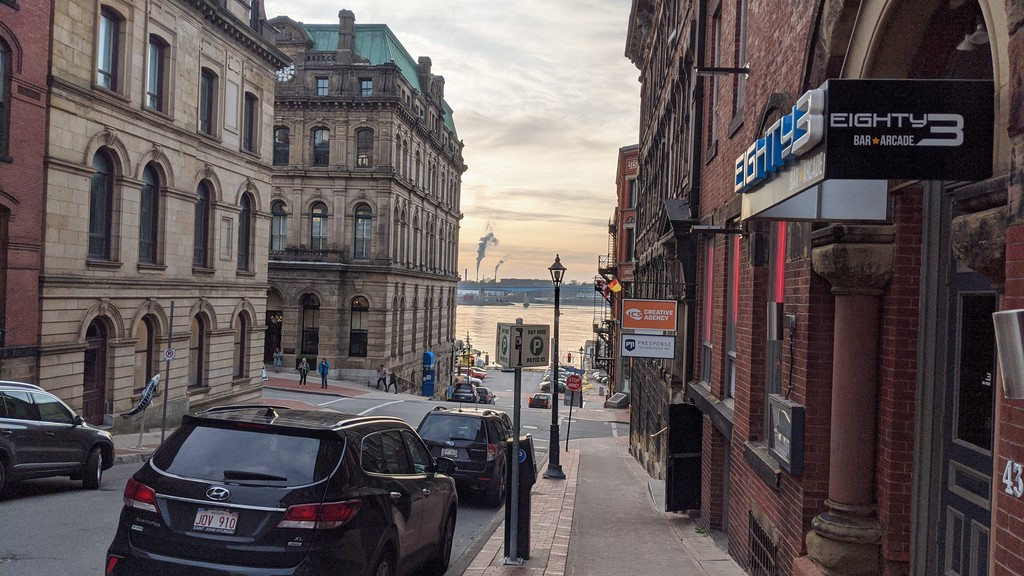 Sunny view of uptown Saint John. Public health should refrain from putting the city into the red phase unless absolutely necessary, writes our editorial board.