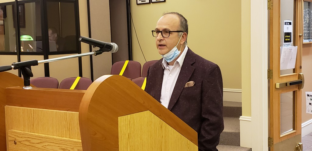 Downtown Campbellton Centre-Ville president Luc Couturier, who finishes his term next week, appeared before Campbellton city council on Tuesday to present the group's 2021 budget.
