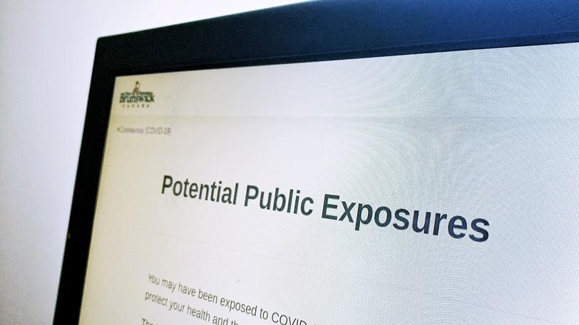 The Government of New Brunswick's public exposure website.