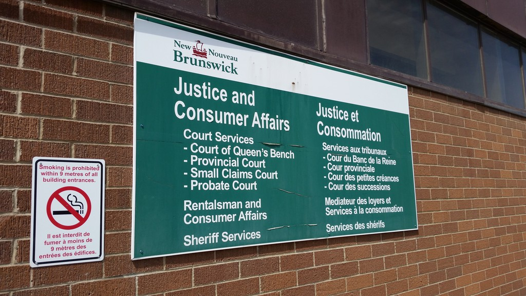 The entrance to the Campbellton courthouse, used often by lawyer Michelle Boudreau-Dumas, who was recently named a Judge (Justice) of the Court of Queen's Bench of New Brunswick, Family Division.
