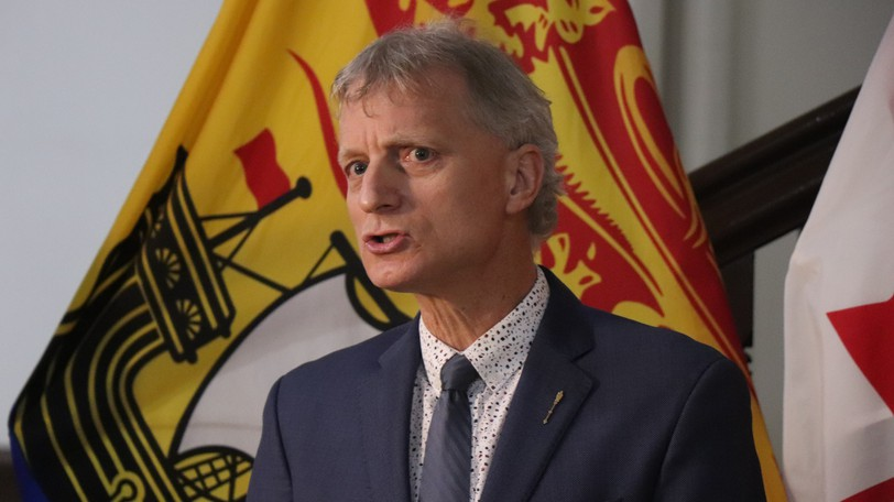 The provincial Liberals are calling on the Higgs government to introduce COVID-19 vaccination passports, a move they say would put the brakes on a growing case count.Interim Liberal Leader Roger Melansonis pictured in this file photo.