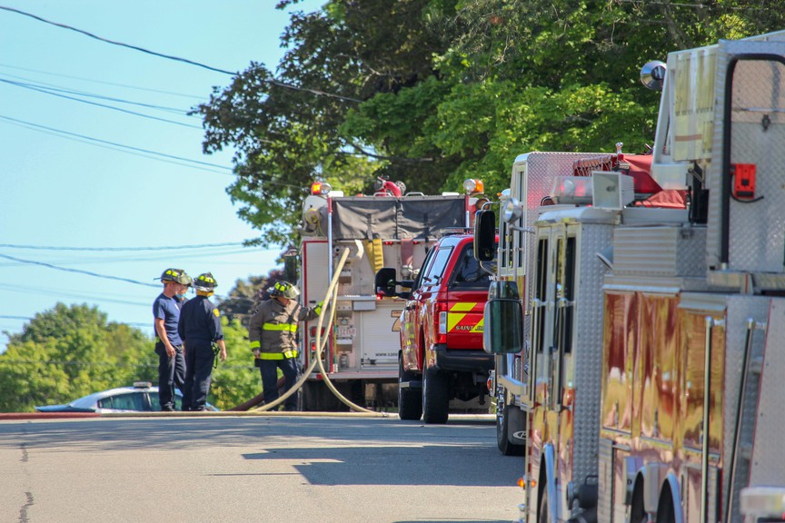 This file photo shows the Saint John Fire Department on scene at a structure fire in July.