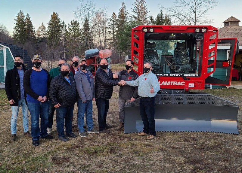 The Miramichi Snow Goers have acquired a new Lamtrac trail groomer purchased for the club by the provincial government for $275,000. The club maintains 325 kilometres of trails between McGivney and the edge of Miramichi and from Blackville to the former Halfway Inn on Route 108.