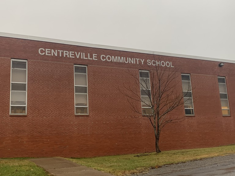 A message from Centreville Community School warning of a COVID-19 case in the school was posted on social media Sunday night.