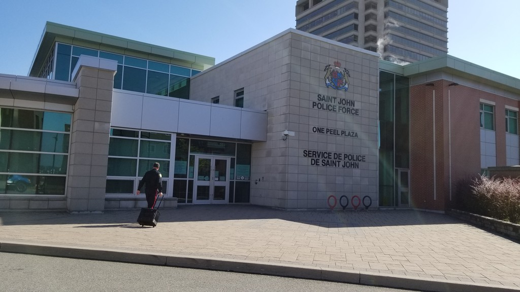 Saint John Police Force headquarters is seen in a file photo. At least two trials have been impacted this week with police witnesses unable to attend court due self-isolation orders.