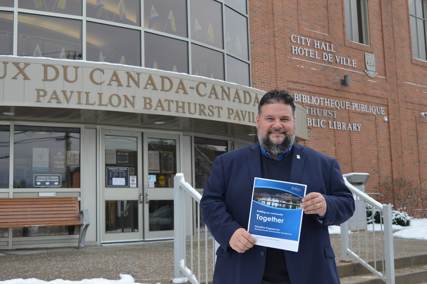 The City of Bathurst launched a packet of new incentive programs aimed to spur economic growth in the city at a press conference held at city hall Thursday morning.Shown here is Mayor Paolo Fongemie.