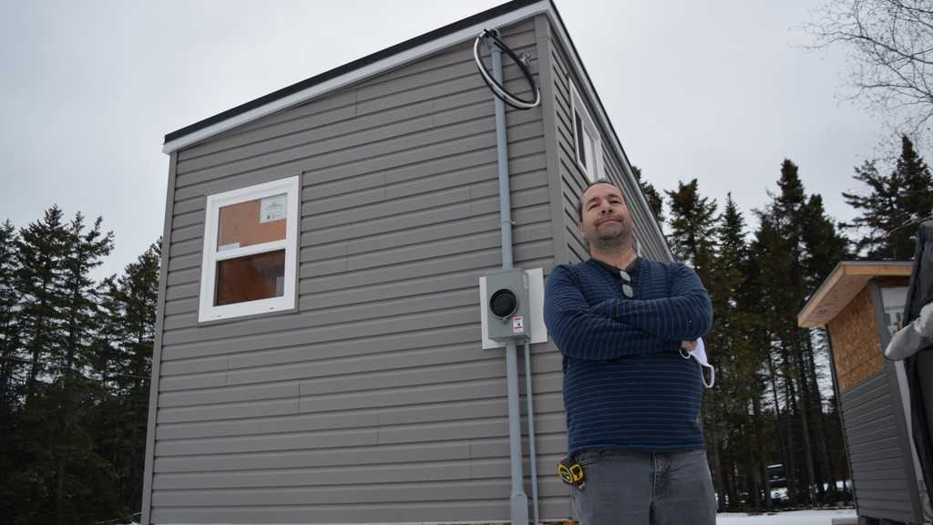 Esgenoôpetitj First Nation entrepreneur Robert Augustine launched a tiny home business this month in an effort to address the area's affordable housing crisis.