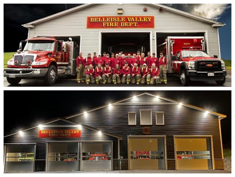 The Belleisle Fire Department won the AA Munro Firehall photo contest grand prize in the category between P.E.I. and New Brunswick, including a $3,000 cheque.