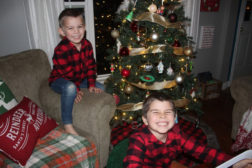 Bryannah James is a reporter at The Northern Light and her Mom at Home column appears weekly. Pictured here are her children Jackson, left, and Colton Doucet.