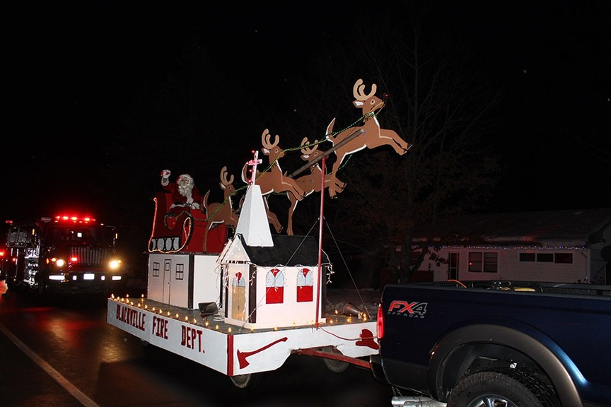 The annual Christmas parades in Miramichi and Blackville, pictured, won't be going ahead this year, but Rogersville's holiday parade will proceed Saturday at 5:30 p.m.