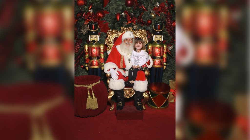 In an example of the composite photos Sussex photographer Sarah Baldwin is creating this holiday season, Myah Kimball is seen with Santa Claus. Baldwin is offering to combine photos of loved ones with photos of Santa to keep one holiday tradition alive during the pandemic, while not requiring physical contact or masks.