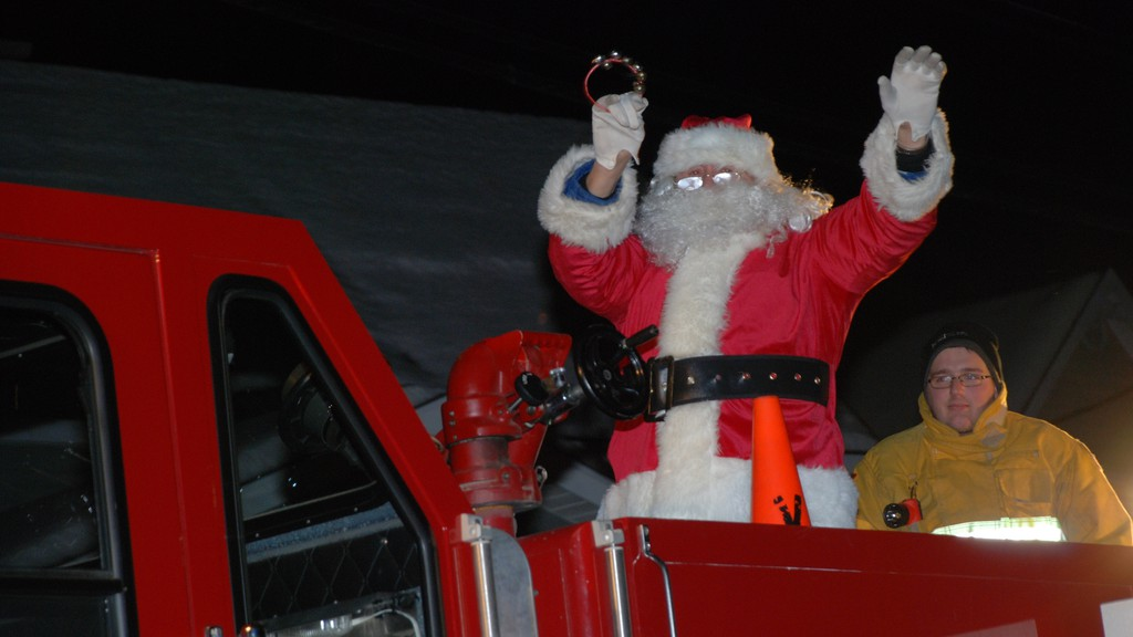 A past Atholville Santa Claus parade. This year, the parade will be reversed: the floats will sit by the side of the street, while spectators in cars will drive by them.