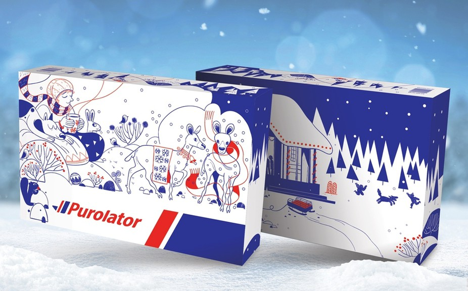 Bathurst resident Hatem Aly is the artist who created this holiday themed box for Purolator. Aly is one of 13 artists across Canada who participated in the project.