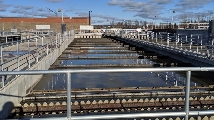 The TransAqua wastewater treatment plant's concrete tanks see a constant flow of wastewater from homes and businesses in Moncton, Riverview and Dieppe.