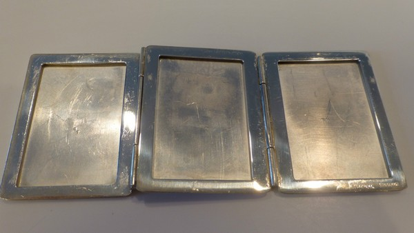 Vintage Tiffany Co Sterling Silver Tri Fold Picture Frame Sold