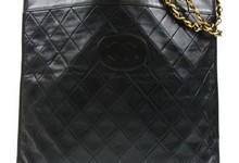 Auth Chanel Quilted Shoulder Bag Chain Black Leather Cc Logos Vintage