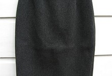 Prada Straight Gray Wool Pencil Skirt
