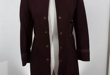 Vintage Prada Burgundy Over Coat