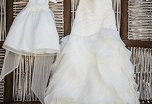 Vera Wang Bridal Gown Organza Fit And Flare Gown With Bias Flange Skirt