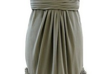 Monique Lhuillier Women's Fun Strapless Formal Dress Grey