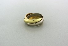 Cartier Trinity 18k Gold Rolling Three Band Ring