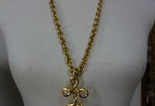 Auth Vintage Chanel Gorgeous Big Cc Logo Gold Long Chain Necklace Pendant