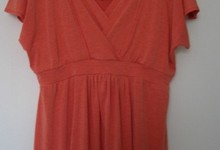 Jw Maternity Nursing Large Japanese Weekend Orange Tunic Top