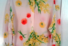 Vintage Gianni Versace Couture Floral Silk Blouse