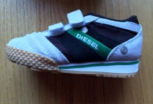 Diesel Children's 'Full Time' Sneakers Size 6.5